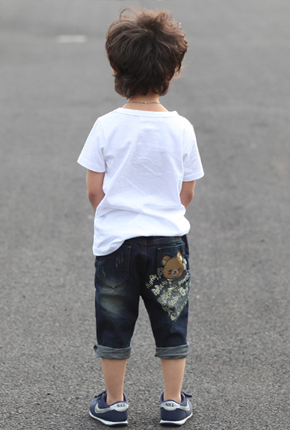 Part 7 NO.138- Bear patch exhaust jeans.