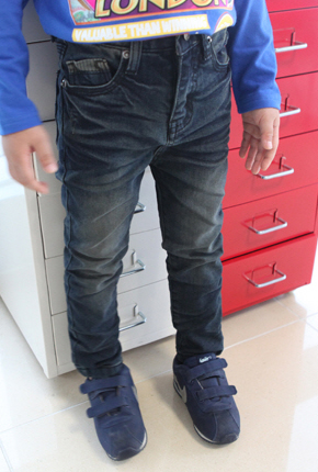 NO. (Children) vintage pocket point Span JeansNA006.
