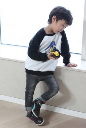 NO.Gray span skinny jeans NA013