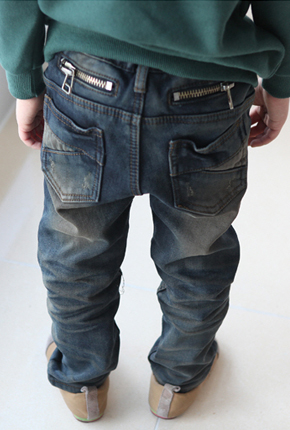 NO. (Brushed bonding) Children exhaust jeans NA031