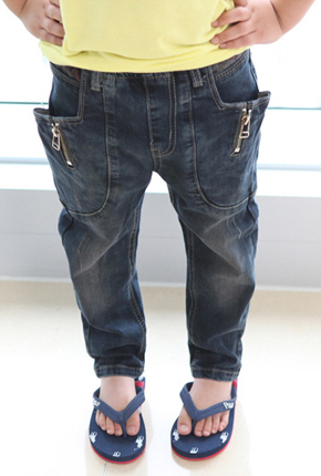 NO.Children Banding Span exhaust jeans NA032.