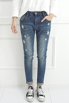 NA831 (S ~ XXL) <br> Nine Stars Baggy jeans