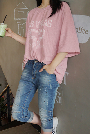 NA544 (S ~ XXL) <BR> Color Painting Part 7 Baggy jeans