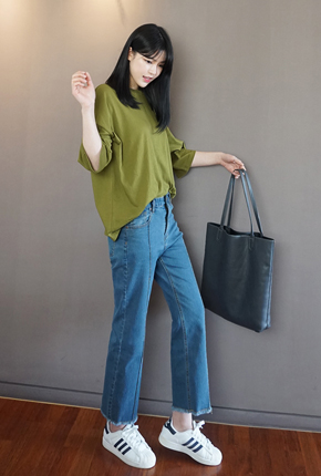 NA701 (S ~ XXL) <BR> Cheese pit wide pants