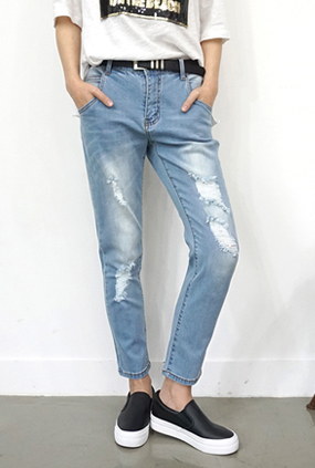 EJ109 (S ~ XL) <BR> Sweetly Baggy jeans