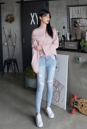 EJ111 (25-32) <BR> feminine jeans