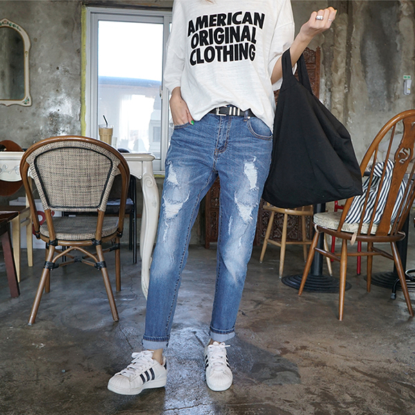 NA969 (S ~ XL) <BR> Charm Bomb Baggy jeans