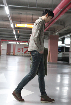 NO. (28-36) Men's warm brushed lining JeansFXG-112