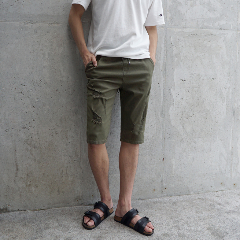 NA971 (28-36) <br> Vintage khaki part 5 banding pants