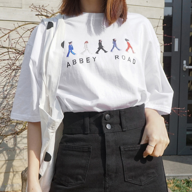 Friend Box Short T shirts <br> <FONT color=#f91305>(Wearing third-order reorder)</font>