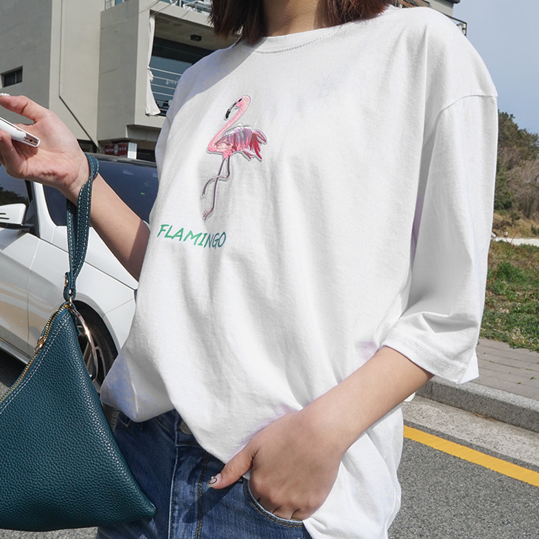 Flamingo Short T shirts <br> <FONT color=#f91305>(Fourth-order reorder wearing)</font>